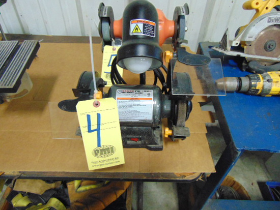 DOUBLE END BENCH GRINDER, CENTRAL MACHINERY 6""
