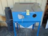 GLOVE TYPE SANDBLAST CABINET, w/dust collector