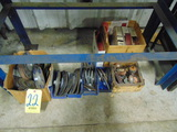 LOT CONSISTING OF: assorted grinding wheels & abrasives  (under one bench)
