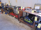 LOT OF TABLES (5), assorted (cannot be removed until contents have been tak