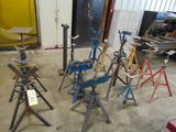 LOT CONSISTING OF: assorted roller & tri-stands