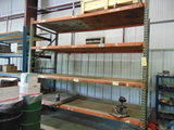 LOT OF RACKS: pallet & steel  (contents not included)  (racks cannot be rem