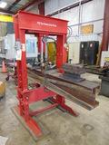 HYDRAULIC SHOP PRESS, BIG RED 100 T. CAP.