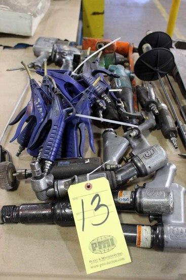 LOT CONSISTING OF: Ingersoll Rand pneumatic tools, air hammers, die grinder