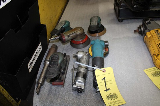 LOT CONSISTING OF: pneumatic tools, grinders & orbital sanders