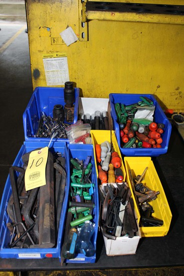 LOT CONSISTING OF: Allen wrenches, torque wrenches, Jacob chuck wrenches &