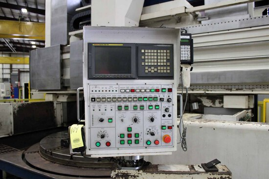 CNC VERTICAL TURNING CENTER, HNK MDL. VTC30/40, new 2012, Fanuc 18i-TB CNC