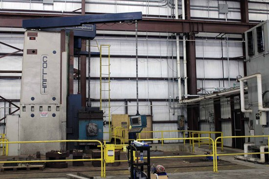 CNC FLOOR TYPE HORIZONTAL BORING MILL, COLLET & ENGELHARDT, Heidenhain CNC