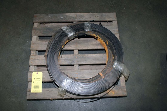 """LOT OF STEEL BANDING MATERIAL, 3/4""""  (on one pallet)"""