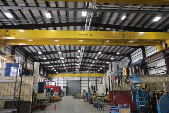 OVERHEAD BRIDGE CRANE, PROSERV 60 T. X 100' SPAN, 34' under hook, dbl. gird