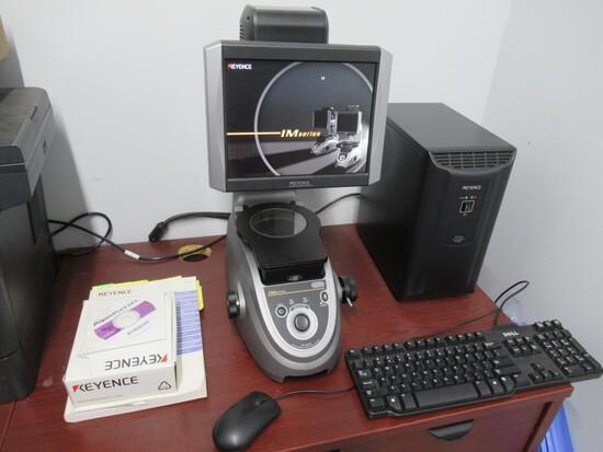 IMAGE DIMENSION MEASURING SYSTEM, KEYENCE MDL. IM-6020, IM-6501E computer s