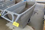 PLASTIC 4-WHEEL HOPPER, RUBBERMAID  (Location 1: Fabcorp, Inc., 6951 West L