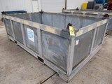 GALVANIZED STEEL BOXES, 4,000 LB. CAP., 12' x 7' x 3'dp., lifting eyes, 16,