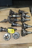 LOT OF CAT-50 TOOL HOLDERS, w / milling heads (Location 1: Fabcorp, Inc., 6