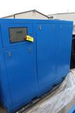 SCREW TYPE AIR COMPRESSOR, EATON, 100 HP (Location 1: Fabcorp, Inc., 6951 W