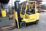 FORKLIFT, HYSTER 50, 5,000 LB. CAP., LPG, 3-stage mast, solid tires, 36