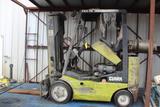 FORKLIFT, CLARK, 4,000 LB. CAP., LPG, 2-stage mast, solid tires, 36