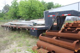 GOOSENECK TRAILER, 2005 AMER, 40', wood deck, stake pockets, dual axle, lan