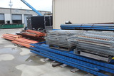 LOT OF PALLET RACK,  large lot, over 30 uprights, over 90 cross sections, o