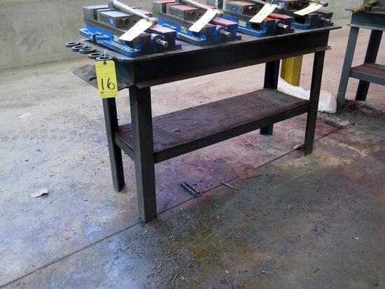 STEEL WORK TABLE, 5' x 2'