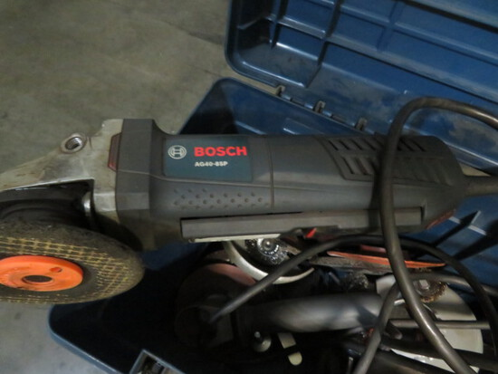 LOT OF GRINDERS: electric & air angle hand, by Bosch & Ingersoll Rand