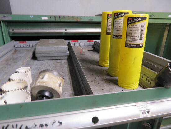 LOT CONSISTING OF: tooling & shop accessories  (in cabinet - cabinet not in