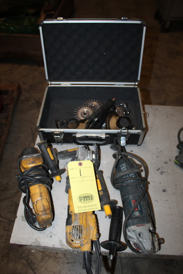 LOT CONSISTING OF: (3) right angle grinders & accessories  (Located at: Acc