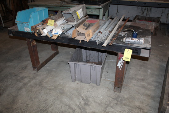 """METAL WORKTABLE, 36"""" x 82"""", H.D.   (Located at: Accurate, Inc., 1200 East 4"""