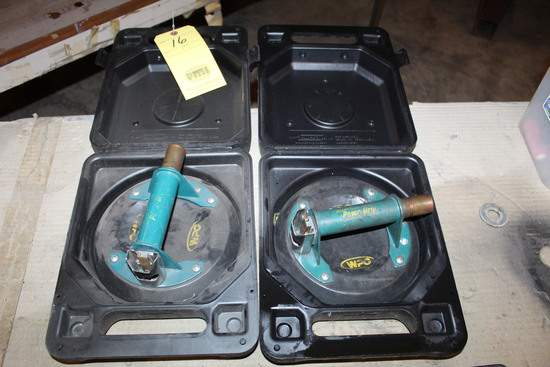 LOT OF POWER GRIP VACUUM SUCTION DISKS, (2) WPG BRAND  (for handling class)