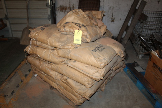 LOT OF WALNUT SHELL  (in 50 lb. bags - on partial pallet)   (Located at: Ac