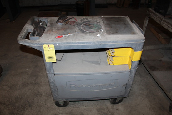 LOT OF PLASTIC UTILITY CARTS (2), w/contents   (Located at: Accurate, Inc.,