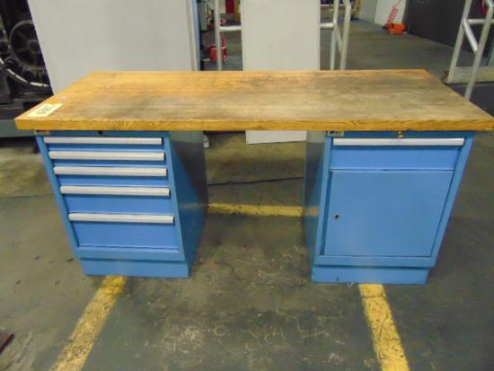 """WORK BENCH, LISTA, 72"""" X 30"""", 6-drawer"""