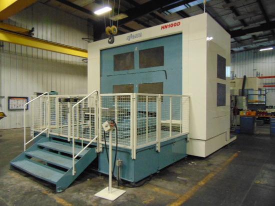 4-AXIS HORIZONTAL MACHINING CENTER, NIIGATA MDL. HN100D, new 2011, Fanuc 30