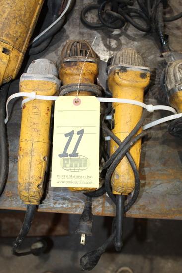 LOT OF ELECTRIC ANGLE GRINDERS, DEWALT