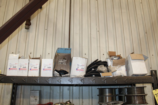 LOT OF GRINDING WHEELS (on rack - top shelf only)