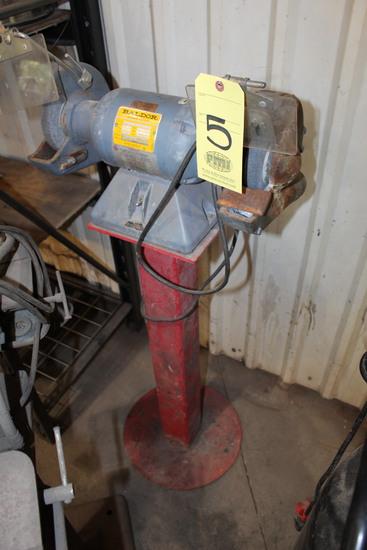 DOUBLE END PEDESTAL GRINDER, BALDOR, 1/2 HP motor, Spec. No. G7-306-30, S/N
