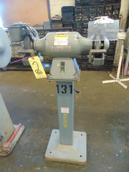 DOUBLE END PEDESTAL GRINDER, BALDOR 3 HP, cast iron base
