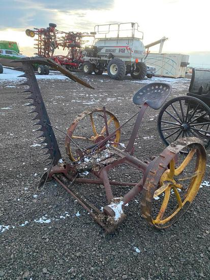 "Horse Drawn 60"" McCormick Sickle Mower (Yellow Wheels)"