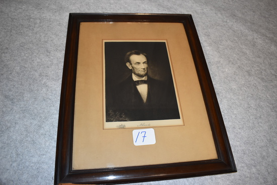 Print of drawing of Abraham Lincoln
