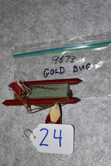 Winchester – No. 9673 Gold Bug Fishing Lure w/Winder