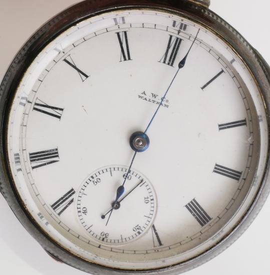 WALTHAM 1883 Coin Silver Pocket Watch