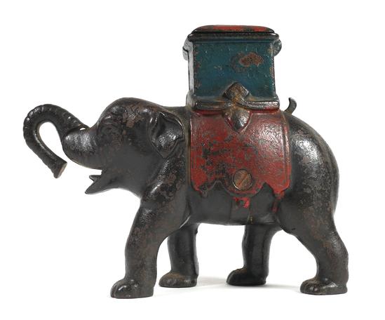 1880 ELEPHANT HOWDAH Mechanical Bank