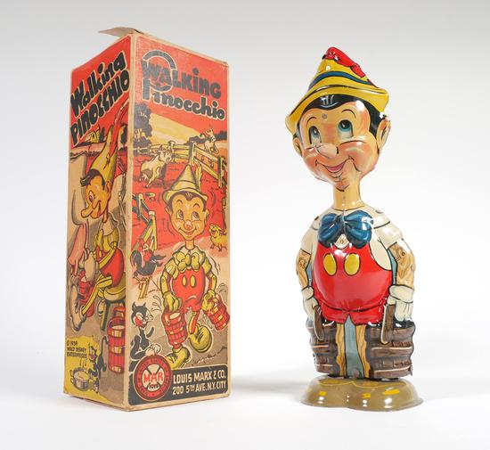 PINOCCHIO 1939 Marx Windup Tin Litho Toy