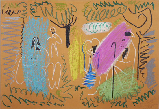 PABLO PICASSO, Pour Margaret Lithograph