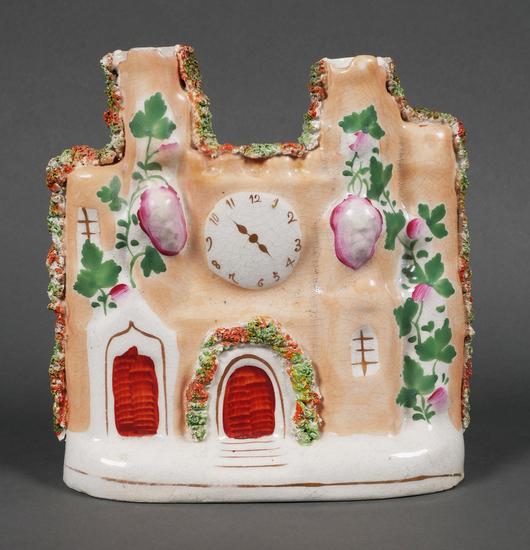 Antique Staffordshire Porcelain Spill Vase