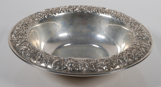 S. Kirk & Son Floral Repousse Sterling Bowl