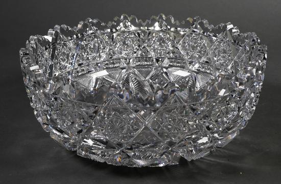 Signed J. Hoare American Brilliant Cut Glass Bowl