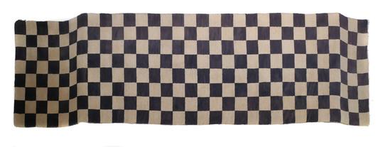 Tibetan Checkerboard Rug Early 20th Century