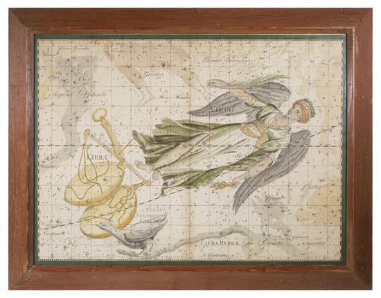 JOHANN BODE Uranographia Star Atlas Plate 14, 1801