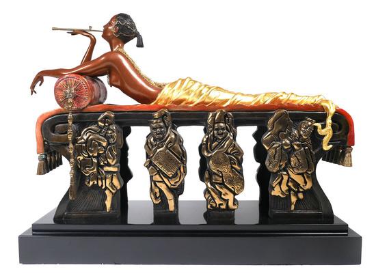 Erte Bronze Daydreams Sculpture